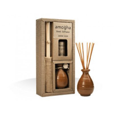 IRIS-Reed Diffuser with stoneware jar -Amber Rose