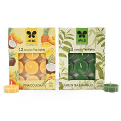 iris-fragrant-tea-light-candle-Green Tea & Banboo-NETIBUY.COM