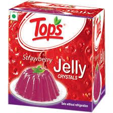 Tops Jelly Crystals Strawberry 90g
