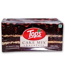 Tops Cake Mix-Chocolate 250g Egg Less