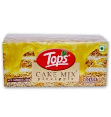 Tops Cake Mix-Pineapple 250g Egg Less