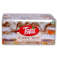 Tops Cake Mix-Vanilla 250g Egg Less